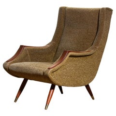 1950s, Italian Lounge / Easy Chair by Aldo Morbelli for Isa Bergamo