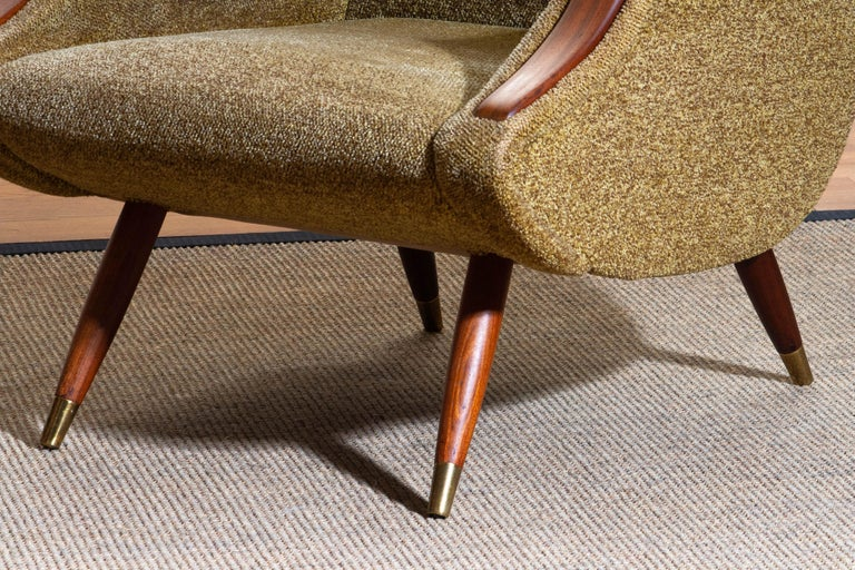 1950s, Italian Lounge or Easy Chair by Aldo Morbelli for Isa Bergamo 5
