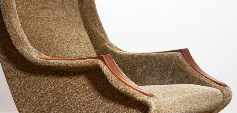 Mid-20th Century 1950s, Italian Lounge or Easy Chair by Aldo Morbelli for Isa Bergamo