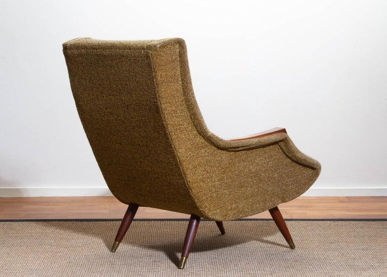 1950s, Italian Lounge or Easy Chair by Aldo Morbelli for Isa Bergamo 1