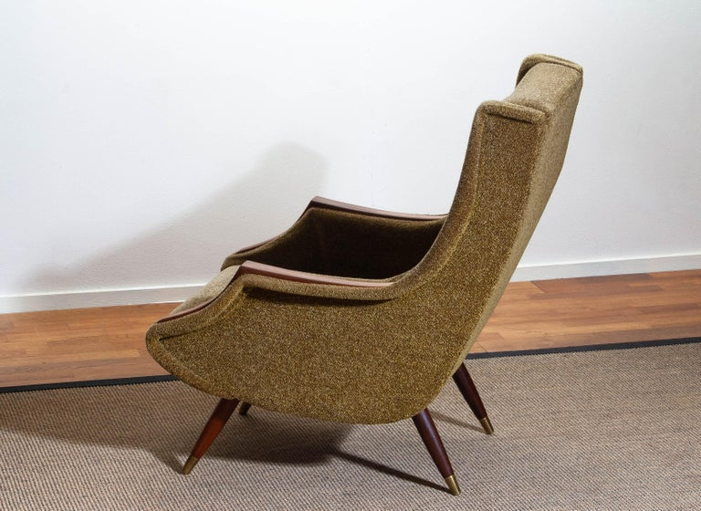 1950s, Italian Lounge or Easy Chair by Aldo Morbelli for Isa Bergamo 2