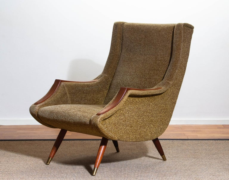 1950s, Italian Lounge or Easy Chair by Aldo Morbelli for Isa Bergamo 4