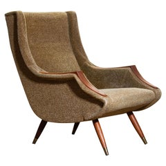 1950s, Italian Lounge or Easy Chair by Aldo Morbelli for Isa Bergamo