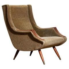1950s, Italian Lounge or Easy Chair by Aldo Morbelli for Isa Bergamo