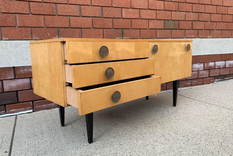 Mid-Century Modern 1950s Italian Low Credenza For Sale