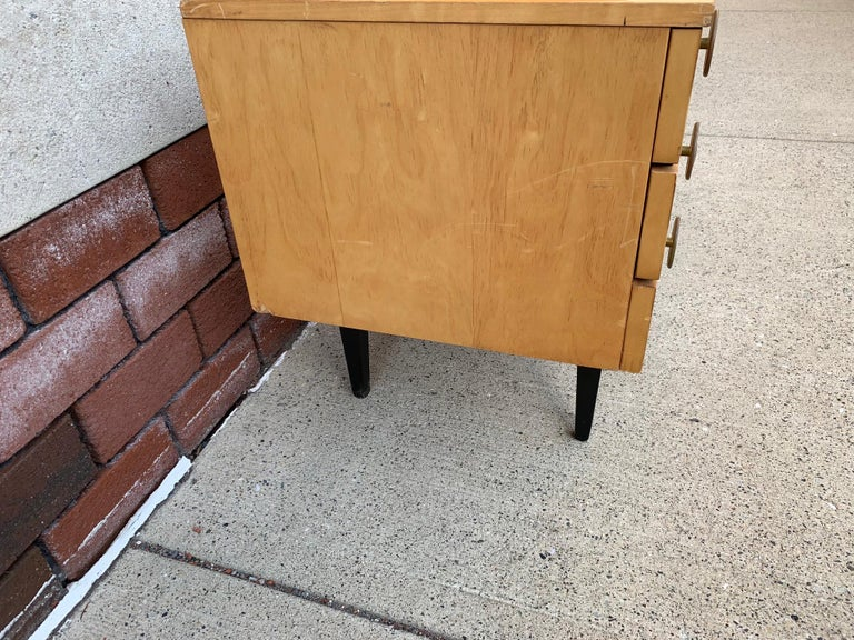 Leather 1950s Italian Low Credenza For Sale