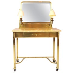 1950s Italian Marble and Brass Dressing-Table or Vanity