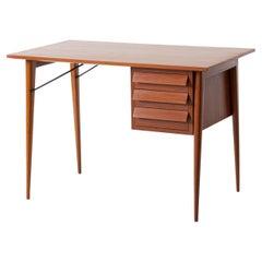 1950s Italian Modern Mahogany Desk Table