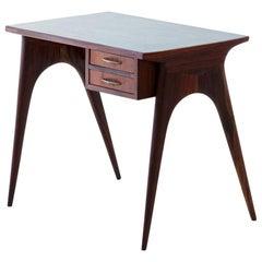 1950s Italian Modern Mahogany Petite Desk