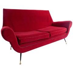 1950s Italian Modern Settee Sofa by Gigi Radice for Minotti