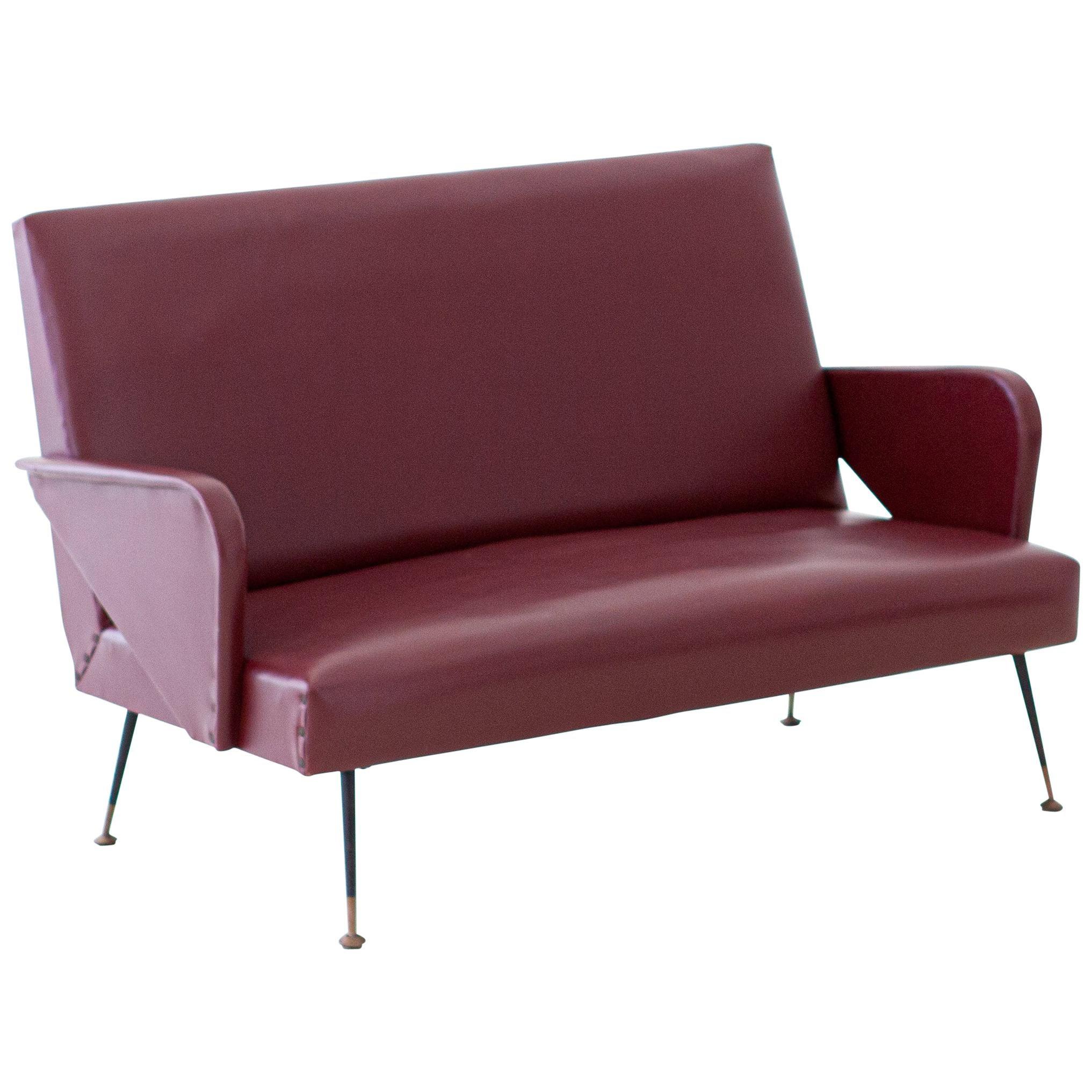 1950s Italian Modern Two-Seat Sofa