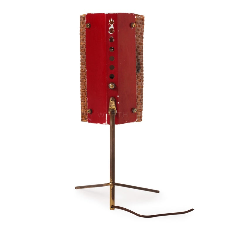 1950s Italian Modernist Table Lamp by Raymor In Good Condition For Sale In Sagaponack, NY
