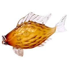 1950's Italian Murano Glass Blown Fish
