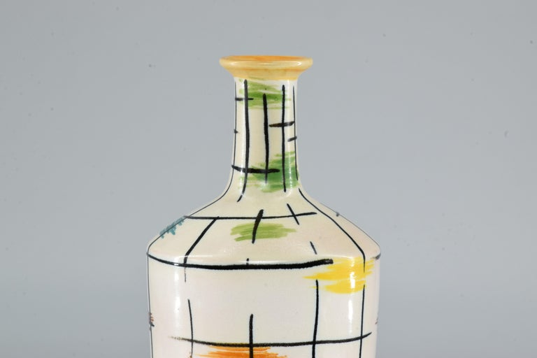 1950s Italian Pucci Umbertide Colorful Ceramic Vase For Sale 5