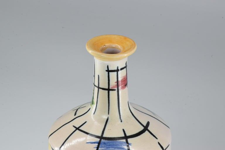 1950s Italian Pucci Umbertide Colorful Ceramic Vase For Sale 1