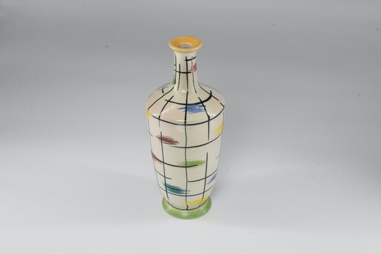 1950s Italian Pucci Umbertide Colorful Ceramic Vase For Sale 2