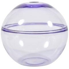 Italian Purple Murano Globe Vase