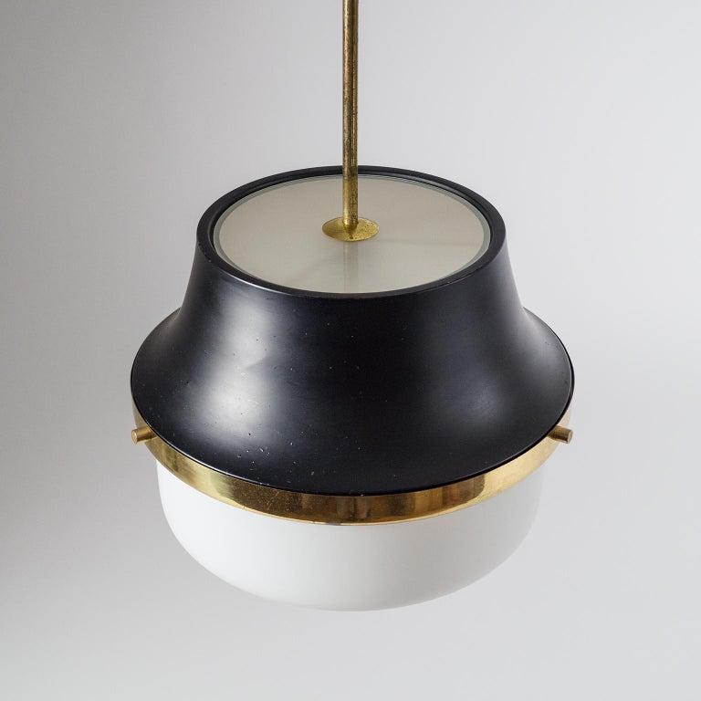 1950s Italian Satin Glass Pendant For Sale 3
