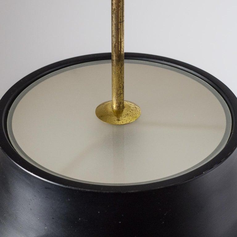 1950s Italian Satin Glass Pendant For Sale 4