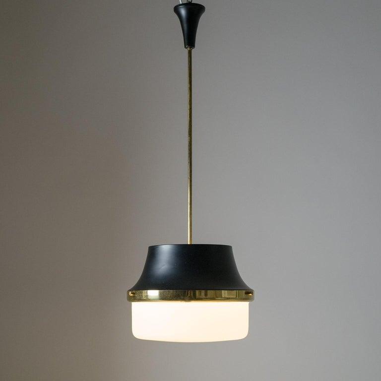 1950s Italian Satin Glass Pendant For Sale 6