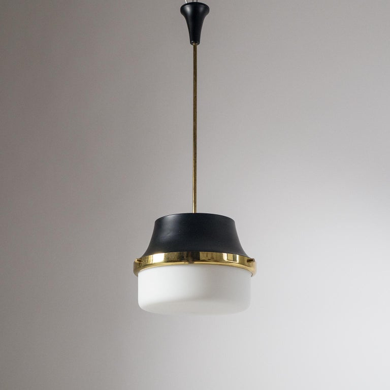 1950s Italian Satin Glass Pendant For Sale 9