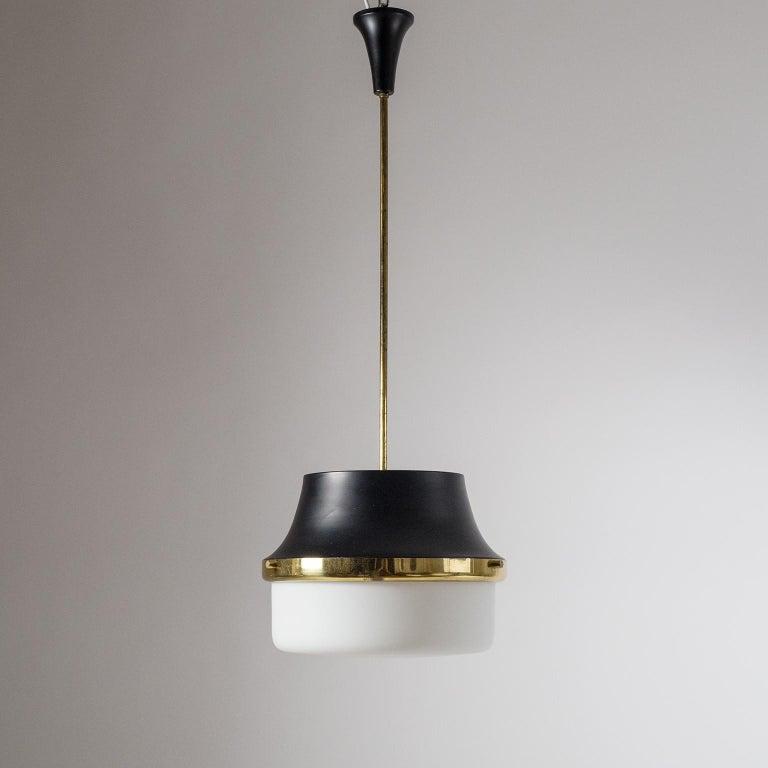 1950s Italian Satin Glass Pendant For Sale 1