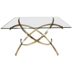 1950s Italian Sculptural Solid Brass Dining Table