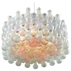 1950s Italian Seguso Murano Pastel Coloured Glass Bubble Chandelier