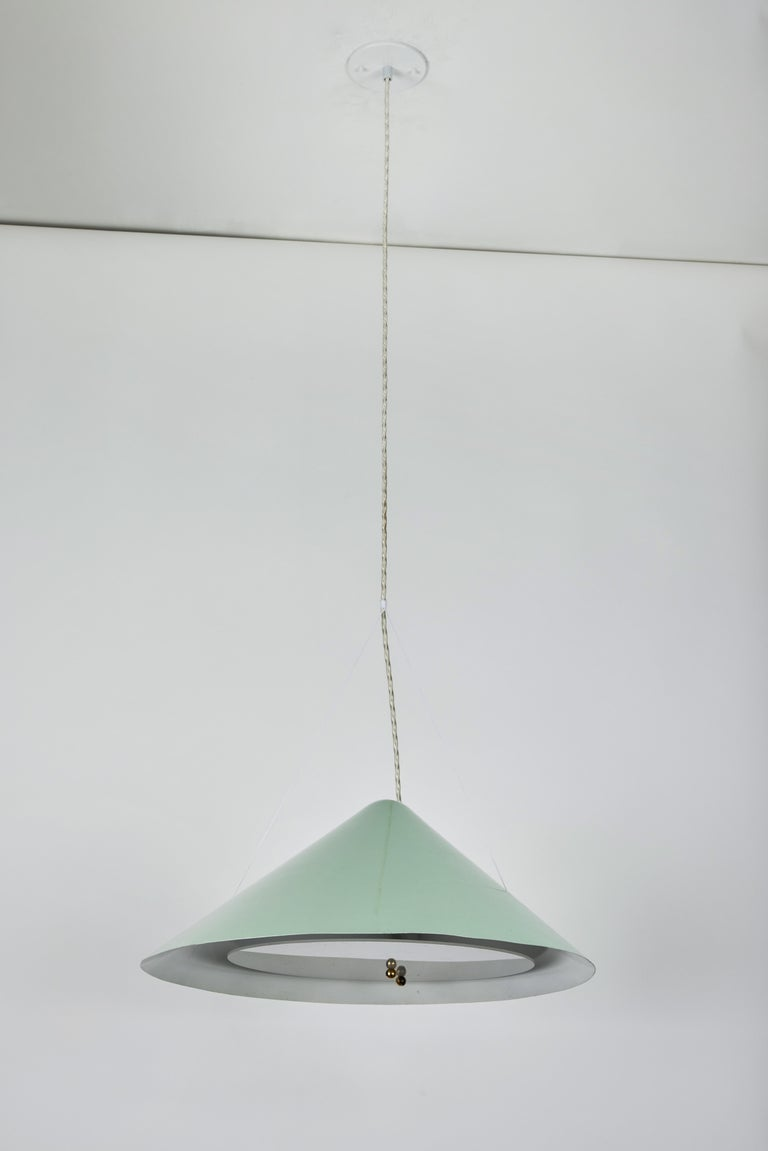 1950s Italian Suspension Lamp Attributed to Ettore Sottsass for Arredoluce In Good Condition For Sale In Glendale, CA