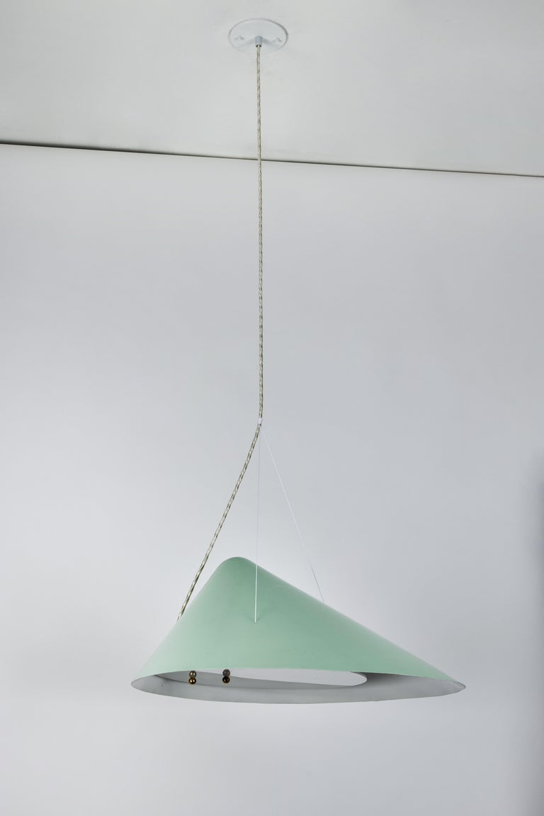 Acrylic 1950s Italian Suspension Lamp Attributed to Ettore Sottsass for Arredoluce For Sale