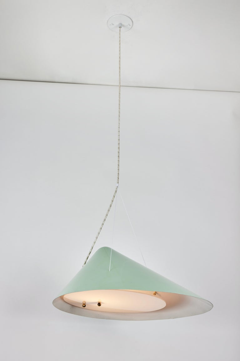 1950s Italian Suspension Lamp Attributed to Ettore Sottsass for Arredoluce For Sale 1