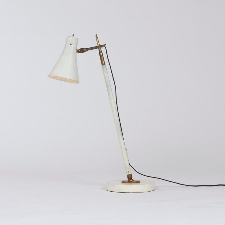 Steel 1950s Italian Telescoping Floor or Desk Lamp by Giuseppe Ostuni for O-Luce For Sale