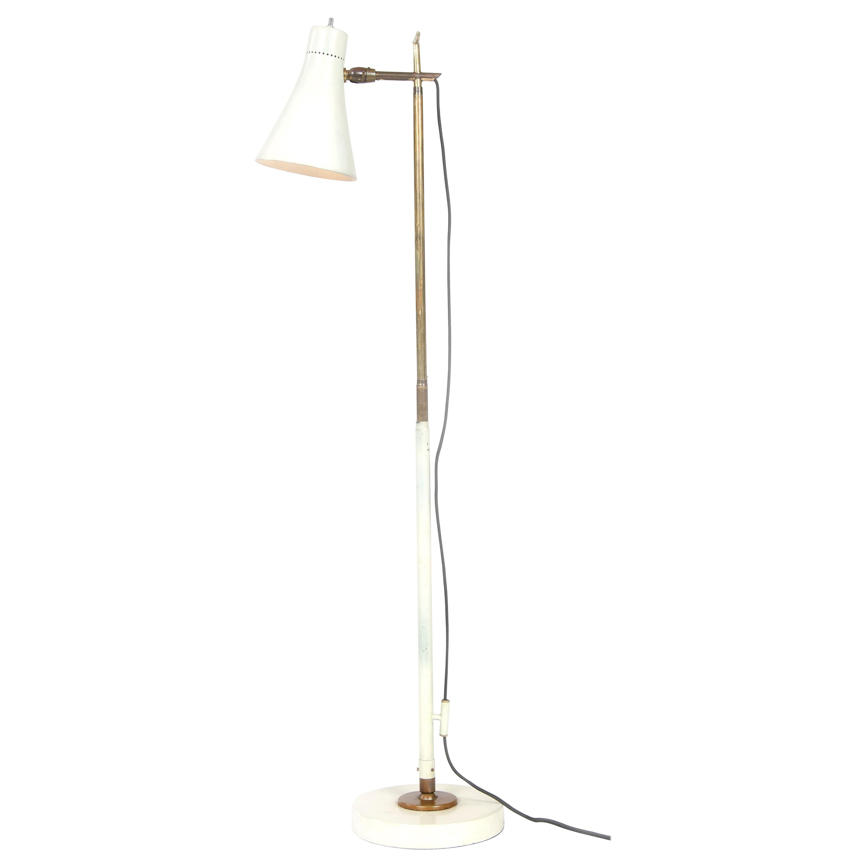 1950s Italian Telescoping Floor or Desk Lamp by Giuseppe Ostuni for O-Luce