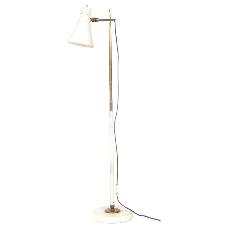1950s Italian Telescoping Floor or Desk Lamp by Giuseppe Ostuni for O-Luce For Sale