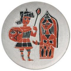 1950s Italian Torviscosa Mid-Century Modern Ceramic Plate or Decorative Dish