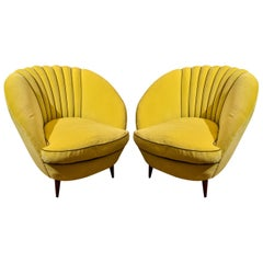 1950s Italian Tub Chairs in the Style of Ico Parisi