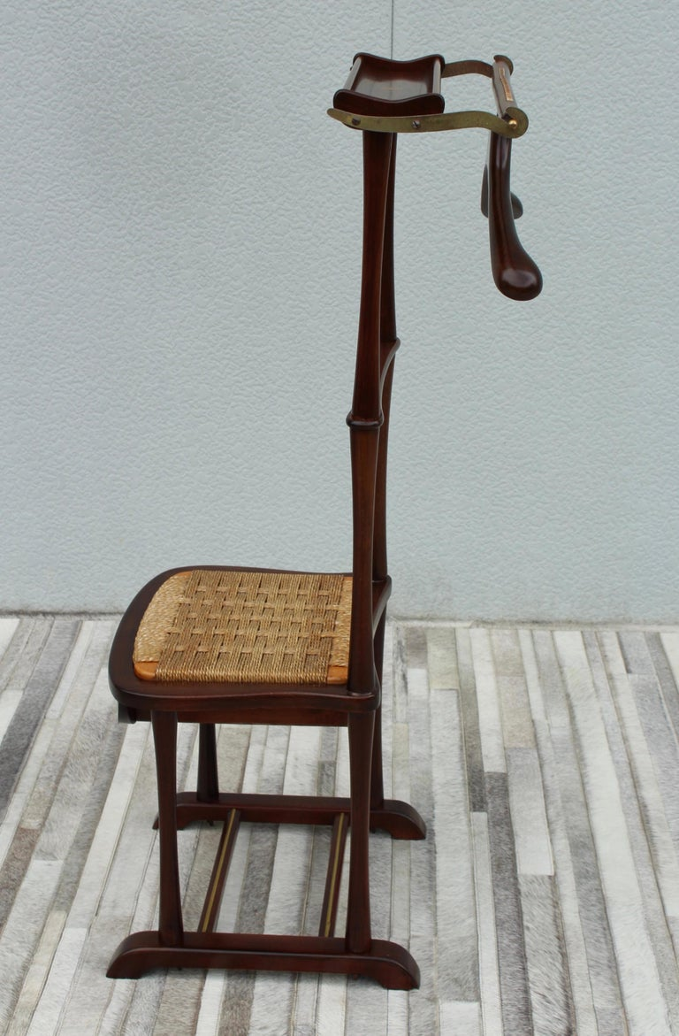 1950's Mid-Century Modern Italian valet chair by SPQR, fully restored and ready to use.