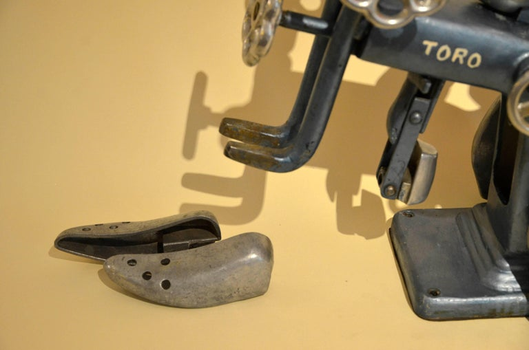 1950s Italian Vintage Metal Machine for Leather Craft and Shoe-Making