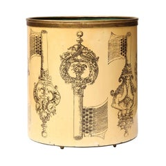 1950s Italian Waste Basket by Piero Fornasetti