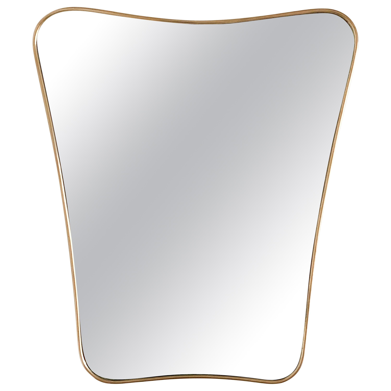 1950s Italian Wavy Brass Mirror