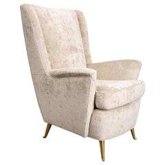 1950s Italian Wingback Chair