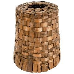 1950s Italian Woven Bark Lamp Shade by Rosenthal Netter