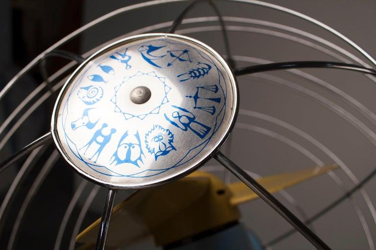 1950s Italian Zodiac Rotary Floor Fan produced by San Giorgio For Sale 4