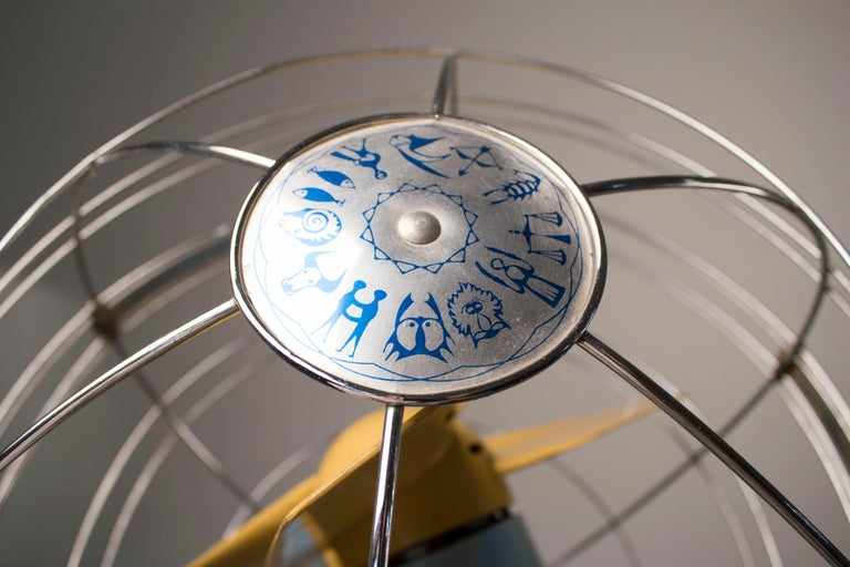 1950s Italian Zodiac Rotary Floor Fan produced by San Giorgio For Sale 5