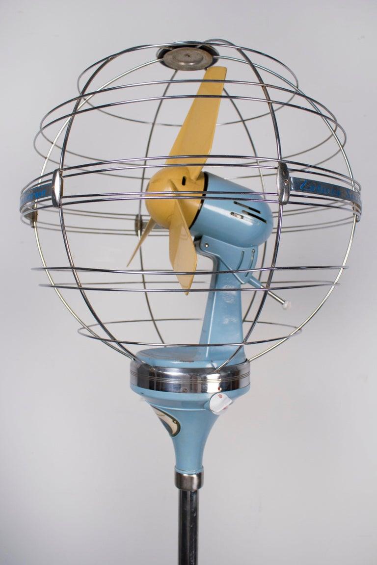 1950s Italian Zodiac Rotary Floor Fan produced by San Giorgio For Sale 6