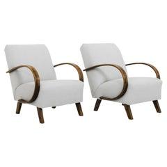 1950s J. Halabala Upholstered Armchair