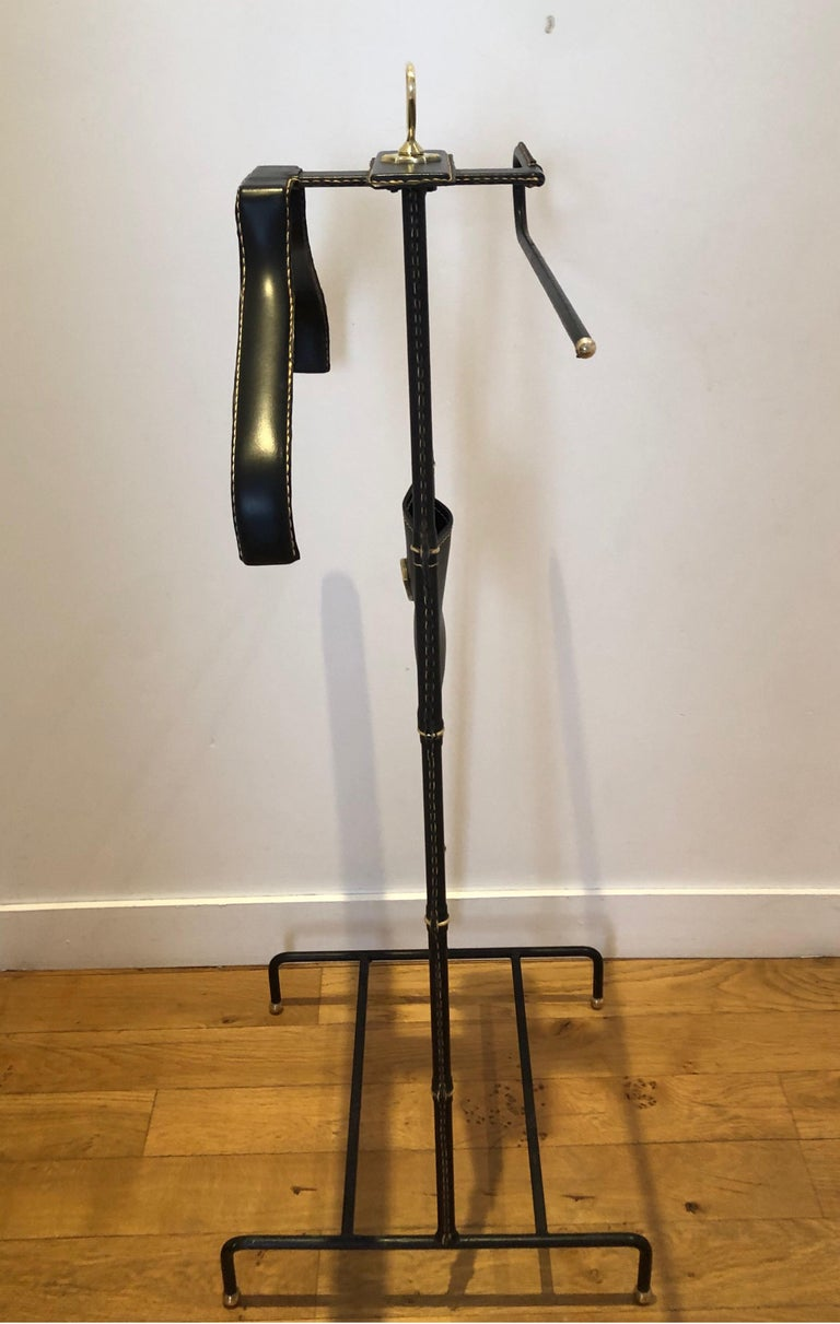 1950s Jacques Adnet Black Valet In Good Condition For Sale In Saint-Ouen, FR