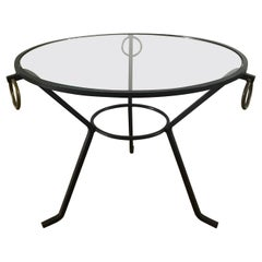 1950s Jacques Adnet Gueridon Table