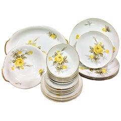 """1950'S Japanese Porcelain & 22K Gold """"Cotillion"""" Dinnerware S/24"""