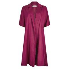 1950s Jean Dessès Haute Couture Silk Mulberry Silk Swing Jacket